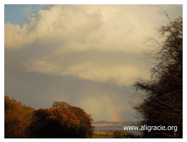 Rainbow Through the Clouds by Alison Gracie