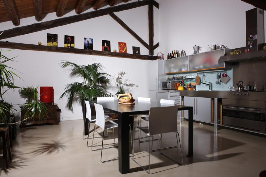 cucina a vista Loft