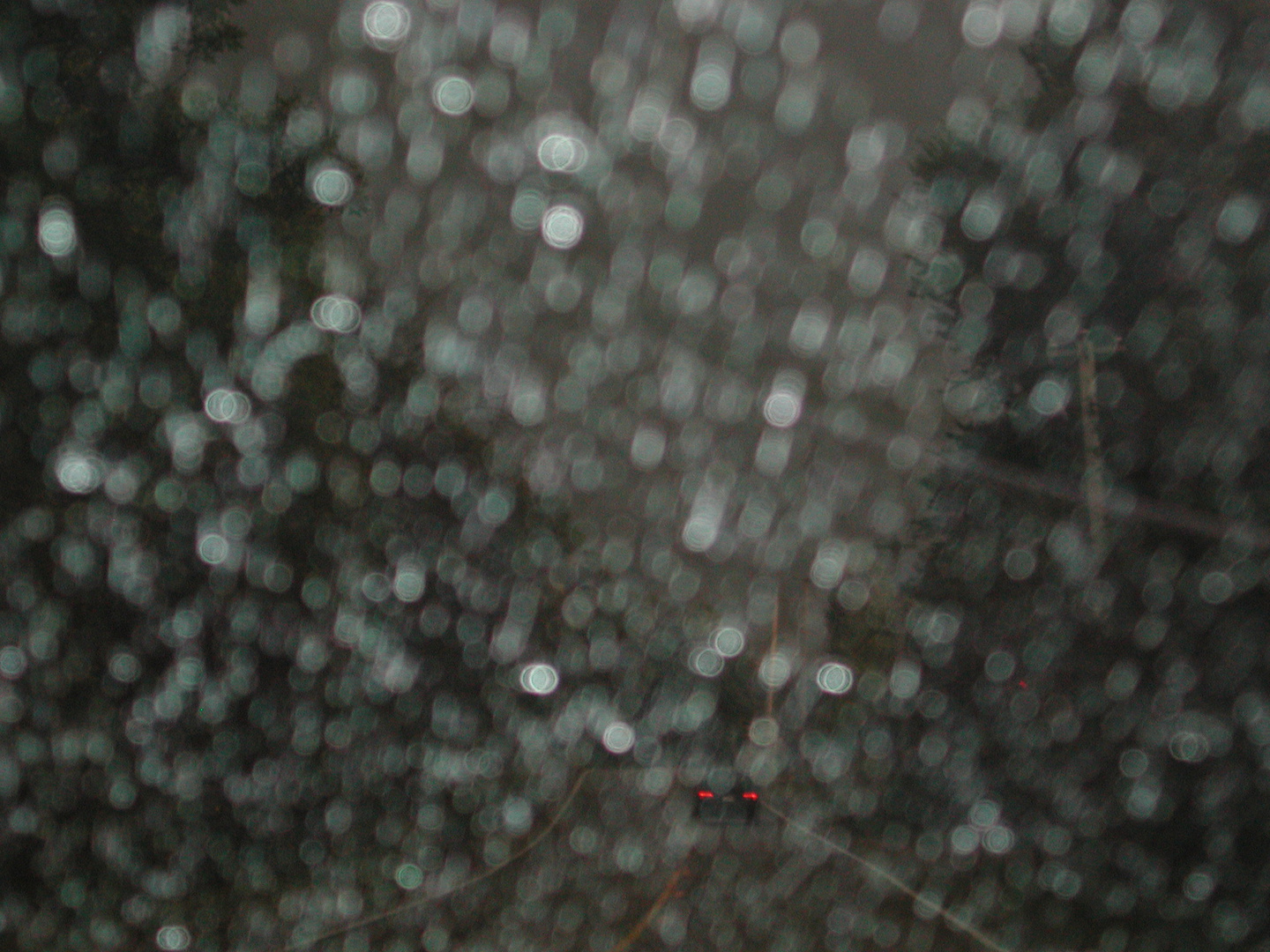 Commute #17 (rainy windshield)