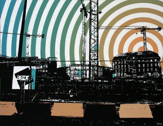 Agora 100x130 akryl płótno 2009