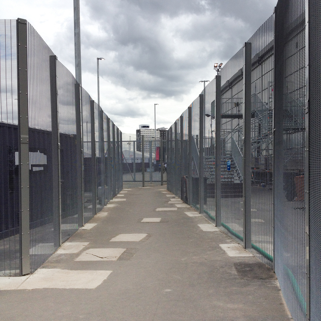 Internal fence, Olympic Park, 2012