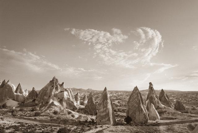 The landscape of Capadoccia