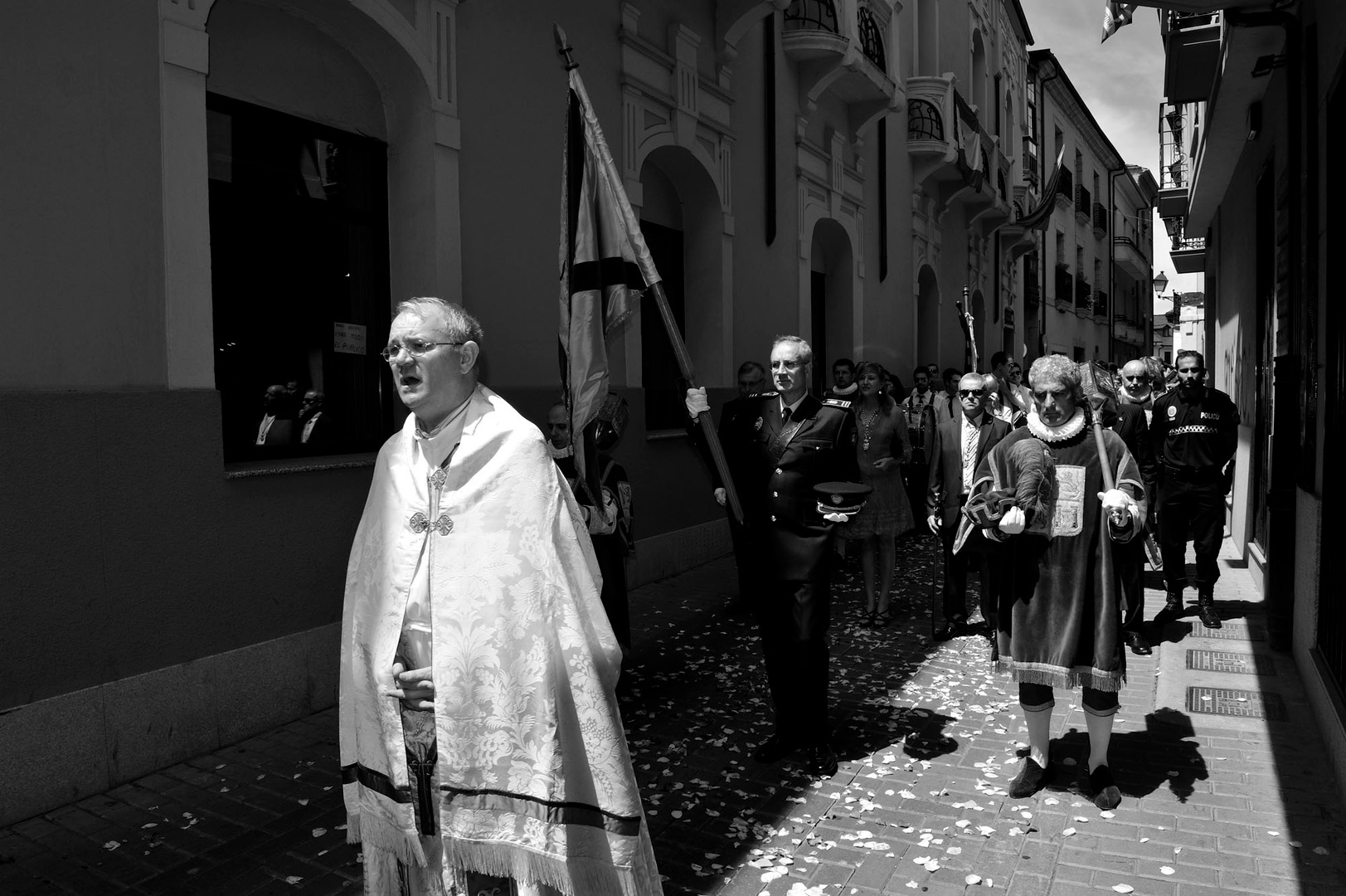 Procession de la fête-Dieu à Ponferrada, Bierzo