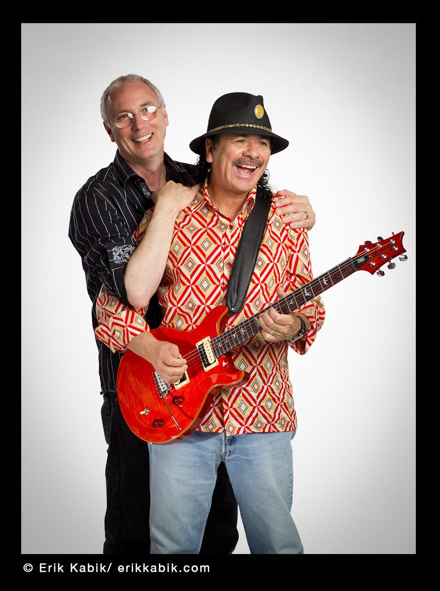 PAUL REED SMITH & CARLOS SANTANA Photographed by E