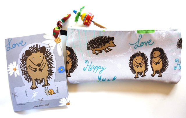 Small bag with my Hedgehog textil