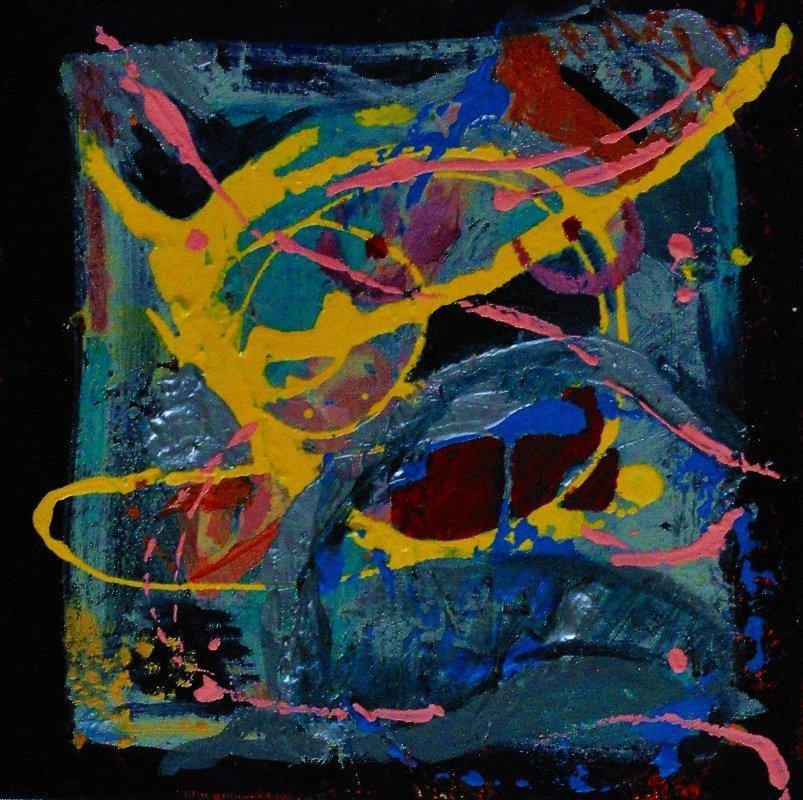 Abstrakcja 30x30 akryl płótno