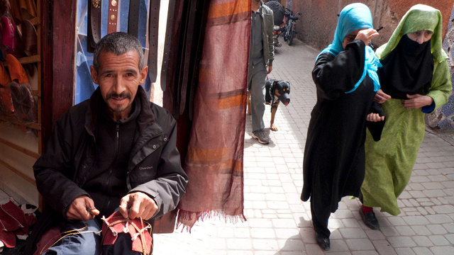 leather worker, Marrakesh