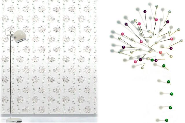Behang voor Muurbloem Wallfashion; Collectie Dots