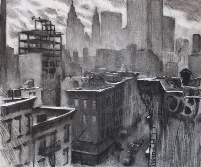View from Lower Manhattan   20 x 24""