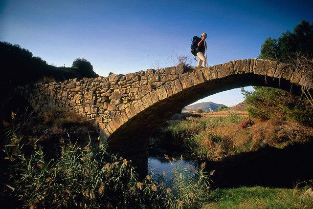 Pont roman sur le Rio Pisuerga, près de Ciranqui, Navarre