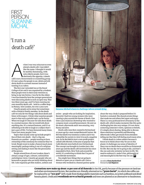 Suzanna Michal, FT Weekend Magazine, 21/22 February  2015