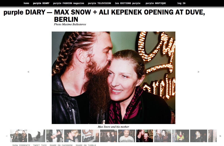 purple DIARY   MAX SNOW   ALI KEPENEK OPENING AT DUVE  BERLIN.png