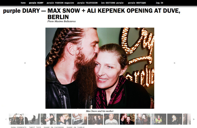purple DIARY   MAX SNOW   ALI KEPENEK OPENING AT DUVE  BERLIN.png