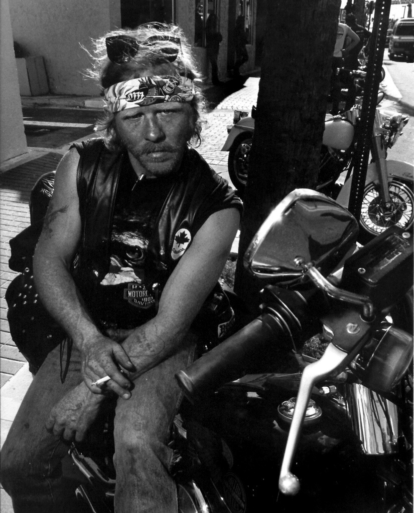 Biker Street Portrait - Daytona Beach FL