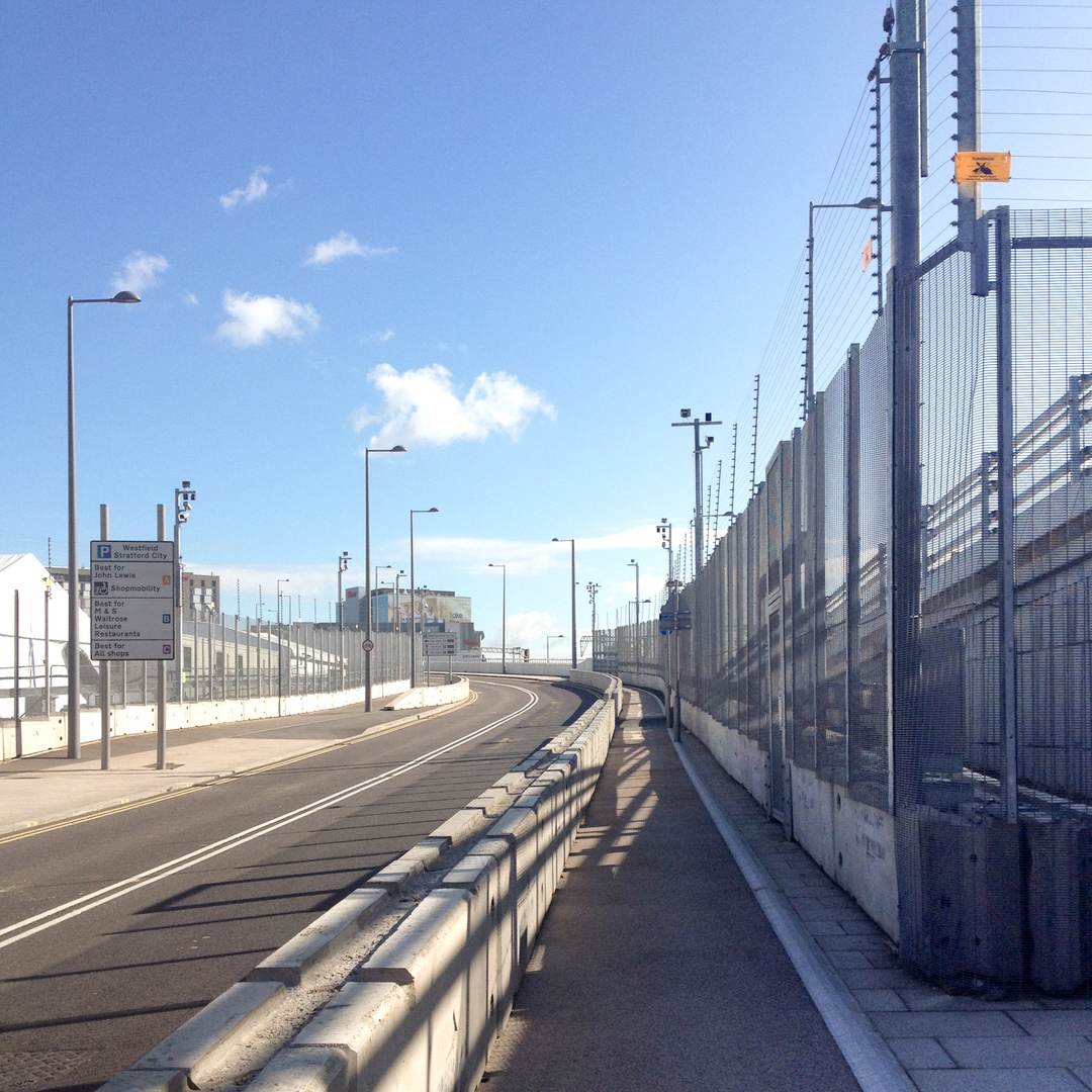 Perimeter fence, Olympic Park, 2012