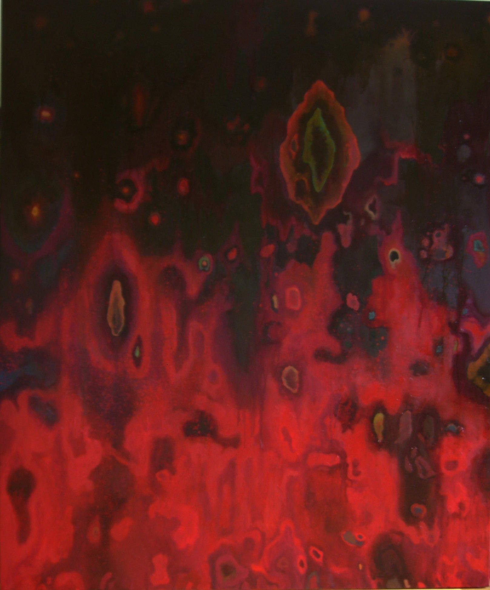Abstrakcja czerwona 120x100
