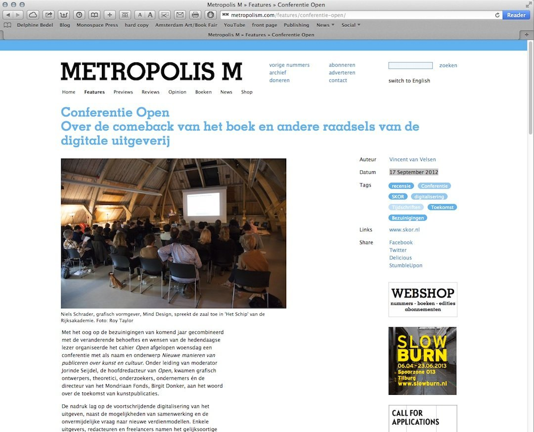 METROPOLIS M, 09.2012