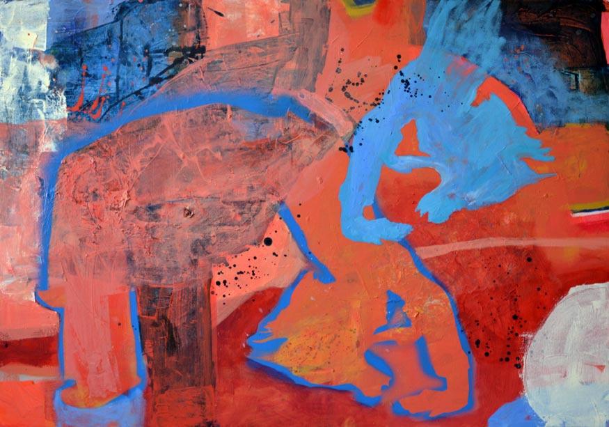 w-innym-pokoju3, akryl na płótnie, 100x70