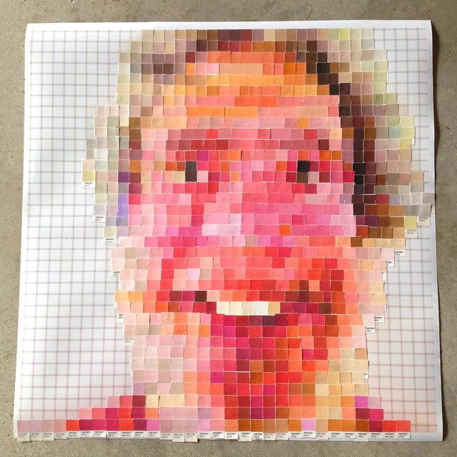 Pantone Color Specification chip self portrait