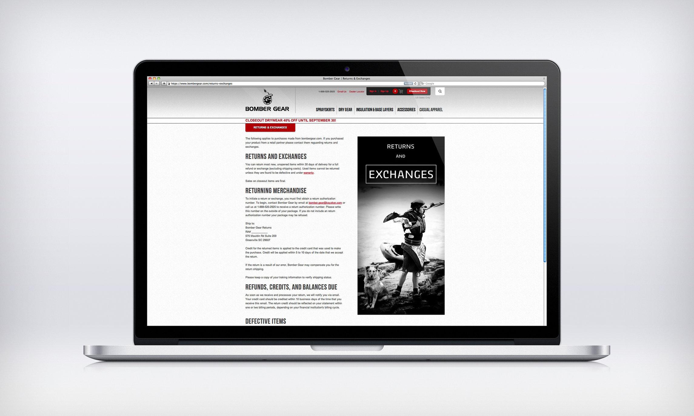 Imagery provided for Bomber Gear's website