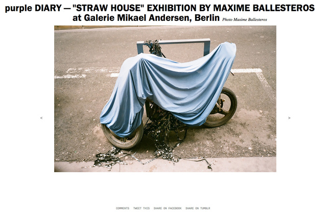 purple DIARY    STRAW HOUSE  EXHIBITION BY MAXIME BALLESTEROS at Galerie Mikael Andersen  Berlin.jpg