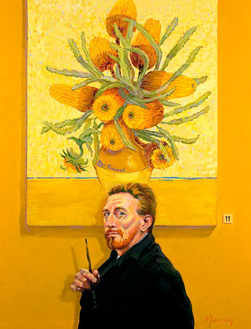 VAN GOGH IN AUSTRALIA AWAITING THE ARRIVAL OF GAUGAIN after Van Gogh & John Peter Russell