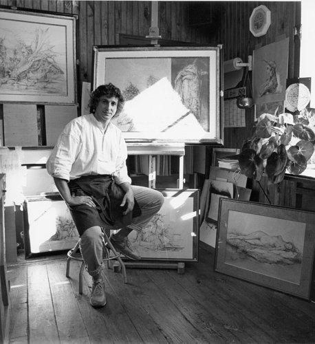 Carmelo de La Pinta, peintre-Graveur, Pont-Aven, Finistère, 1991