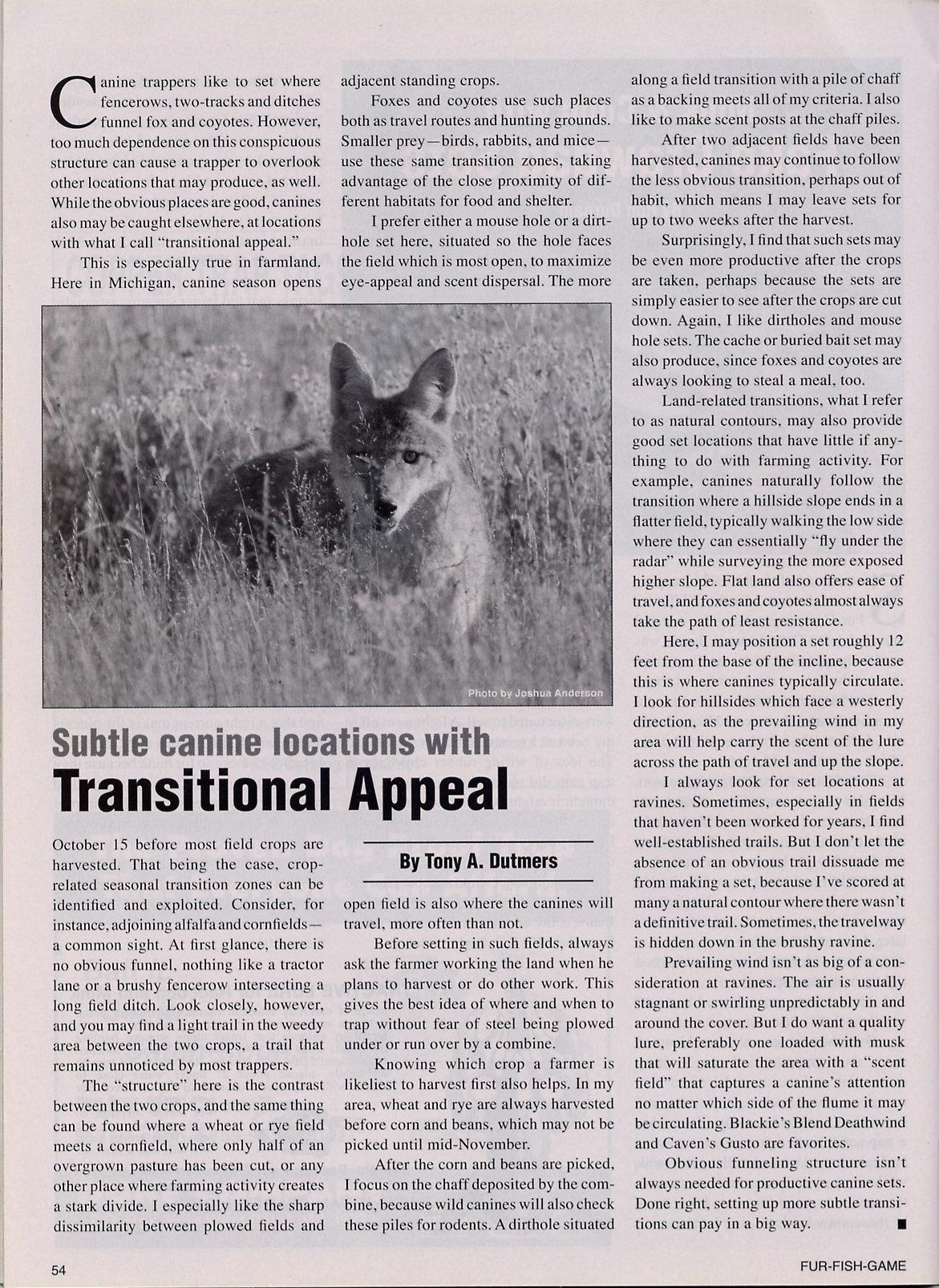 Fur-Fish-Game Magazine (inside); © September 2012