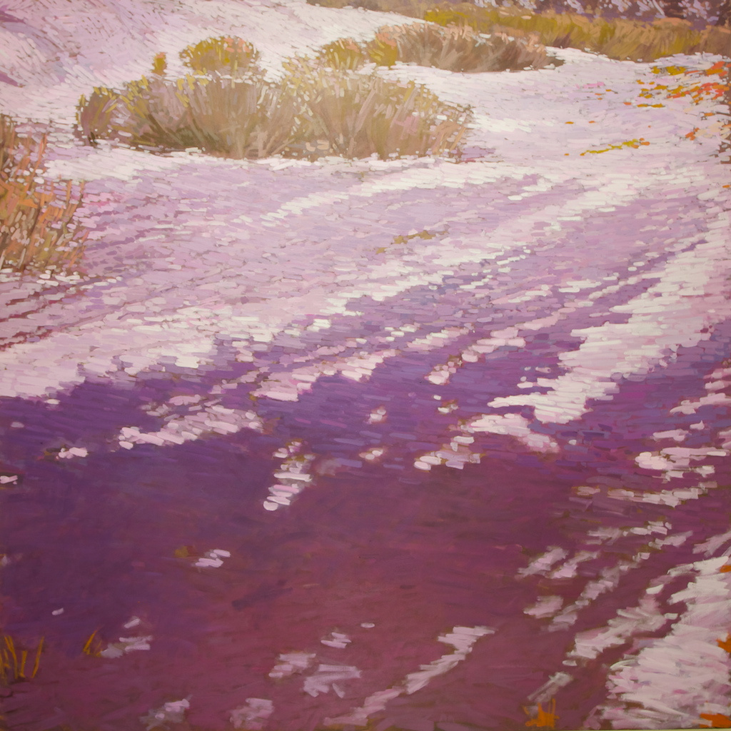 "Spring Willows and Shadows, East Fork Brush Creek, 2012, Acrylic on Canvas, 72"" x 72"""