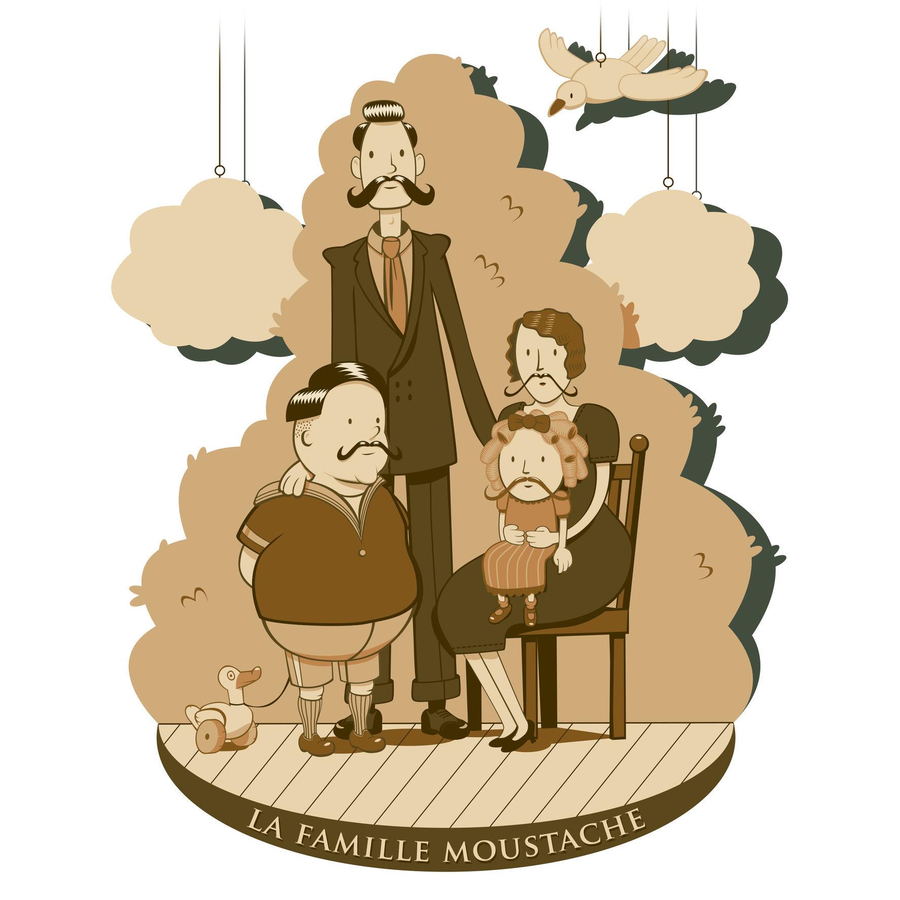 La famille moustache