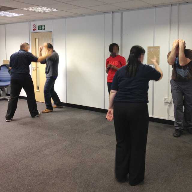 Restraint training, Romford Road, 2012