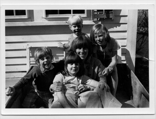1980.Self with Kids, Dublin, NH