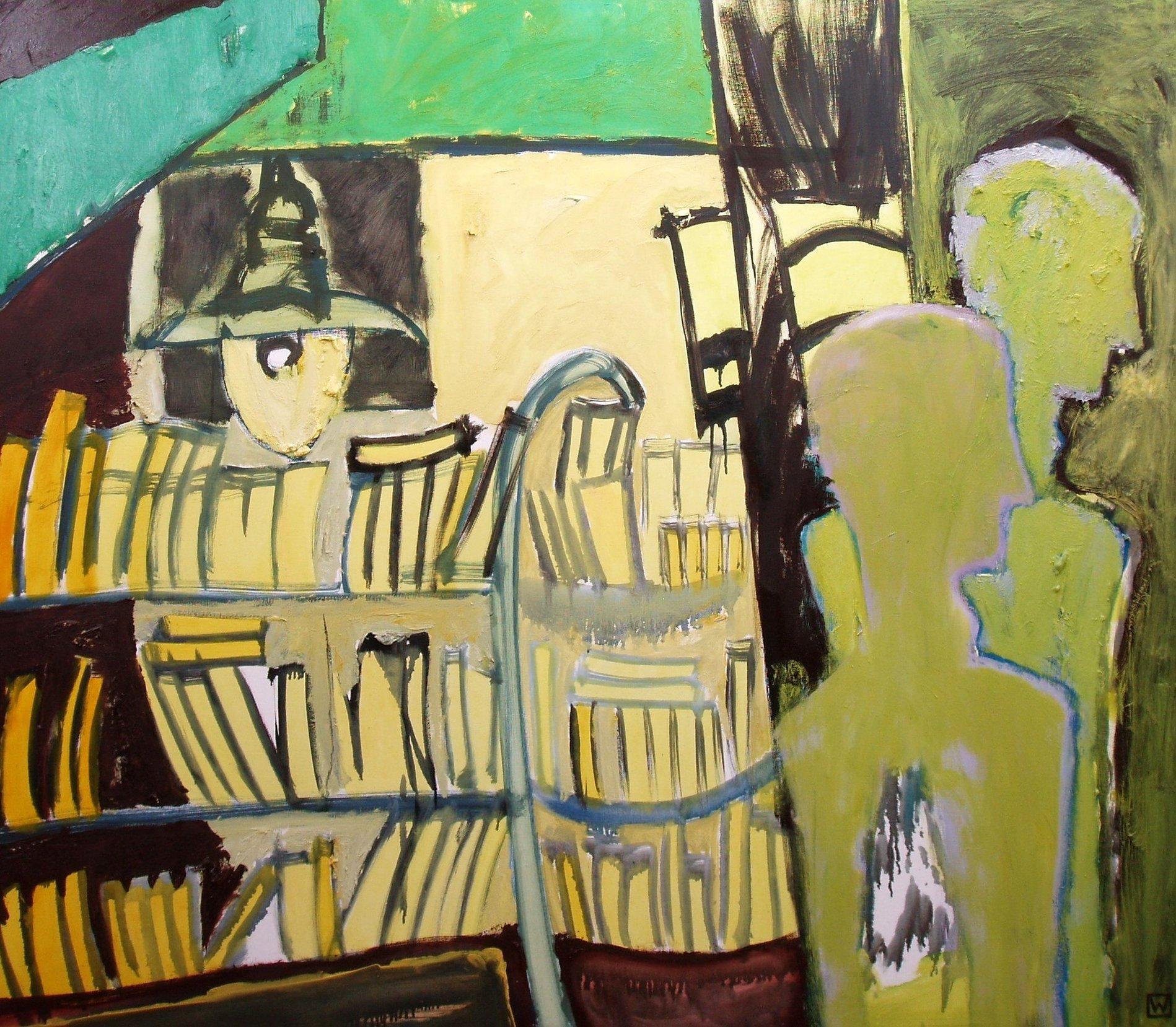 Biblioteka 130x150 olej płótno