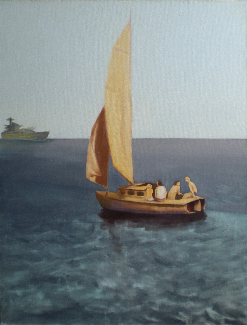 Trafiony zatopiony 46x61, 2009