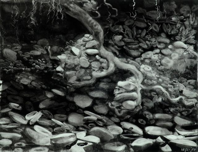 "Creekbed, 23 x 28"""