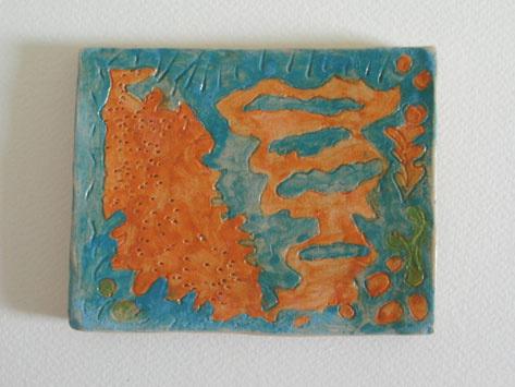Ceramic Tile Design Coaster by Alison Gracie