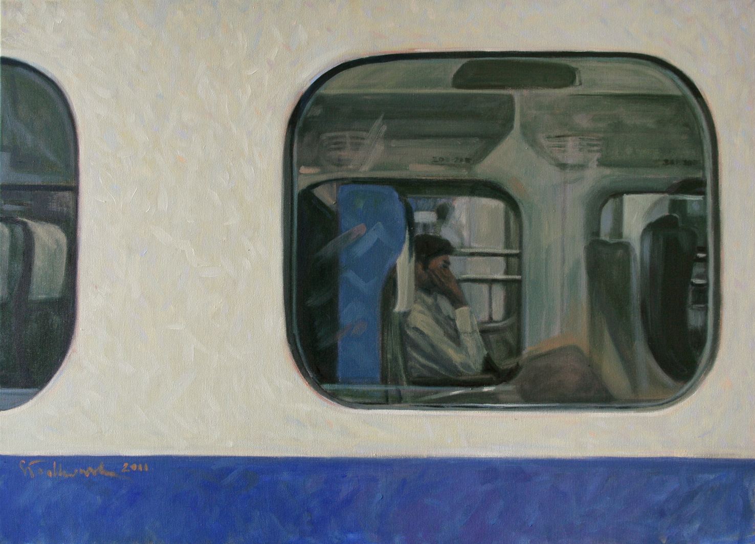 shinkansen, olej płótno 100x73 2011