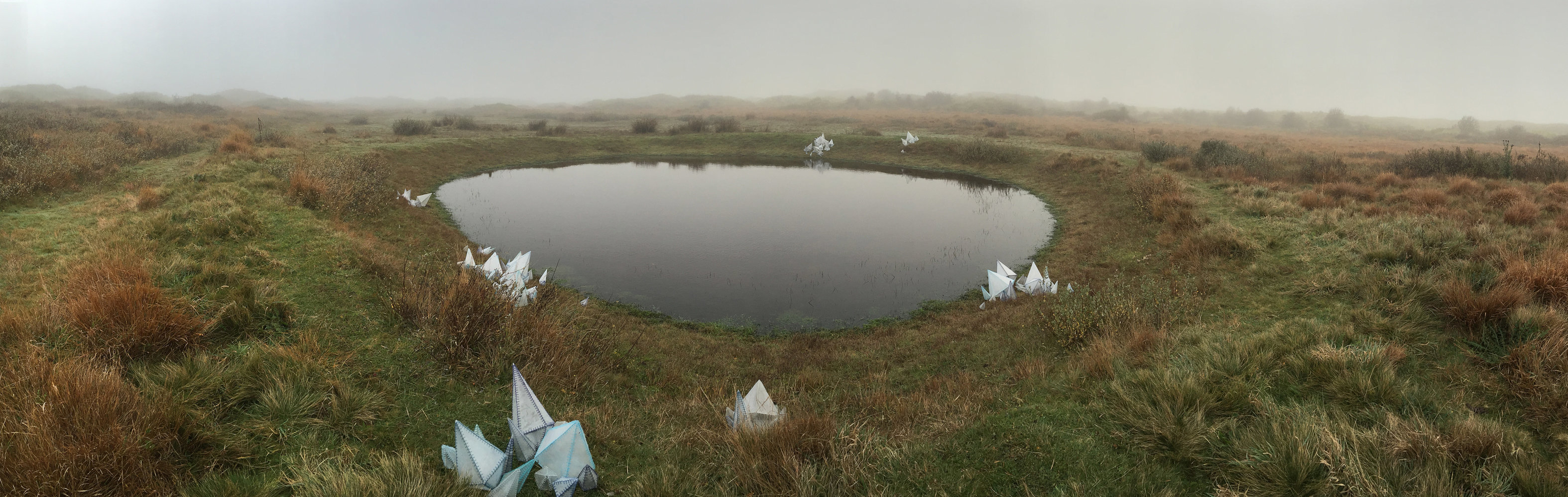 Installation made in 2015 for Artmonth Ameland in the dunes of the island Ameland, The Netherlands