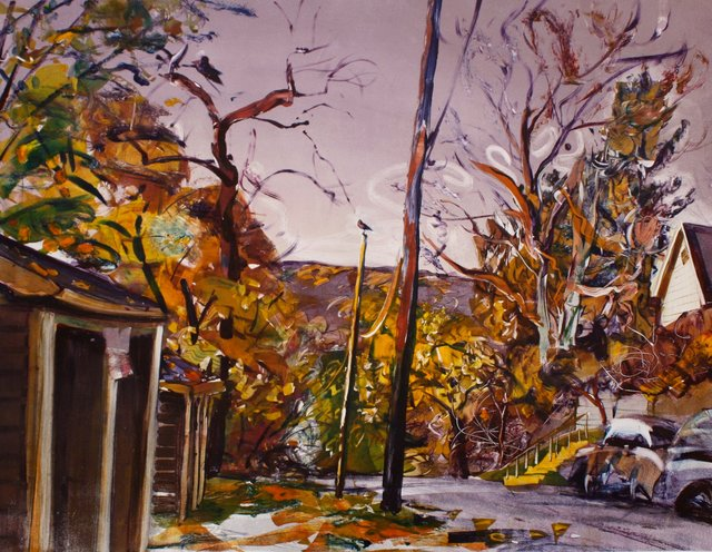 East Hill Crows I   28 x 39""