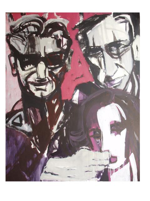 """""""Sytuacja"""", akryl na płótnie, 150 x 120"""