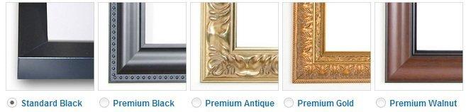 Premium wood frames