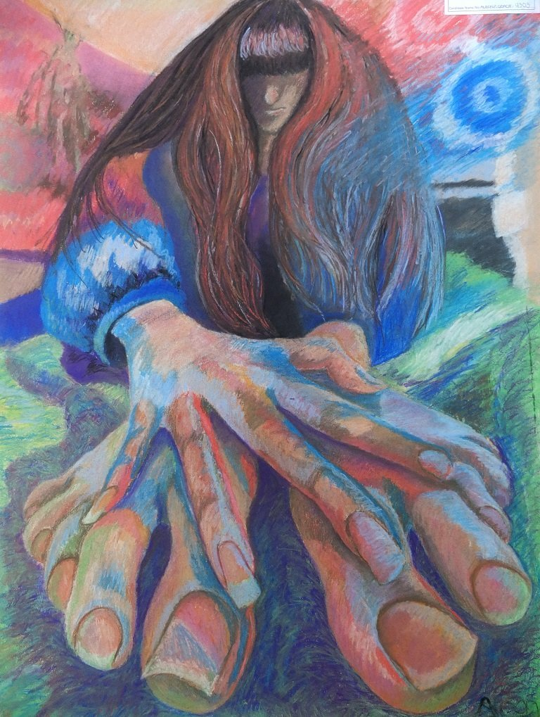 Psychedelic Portrait by Alison Gracie