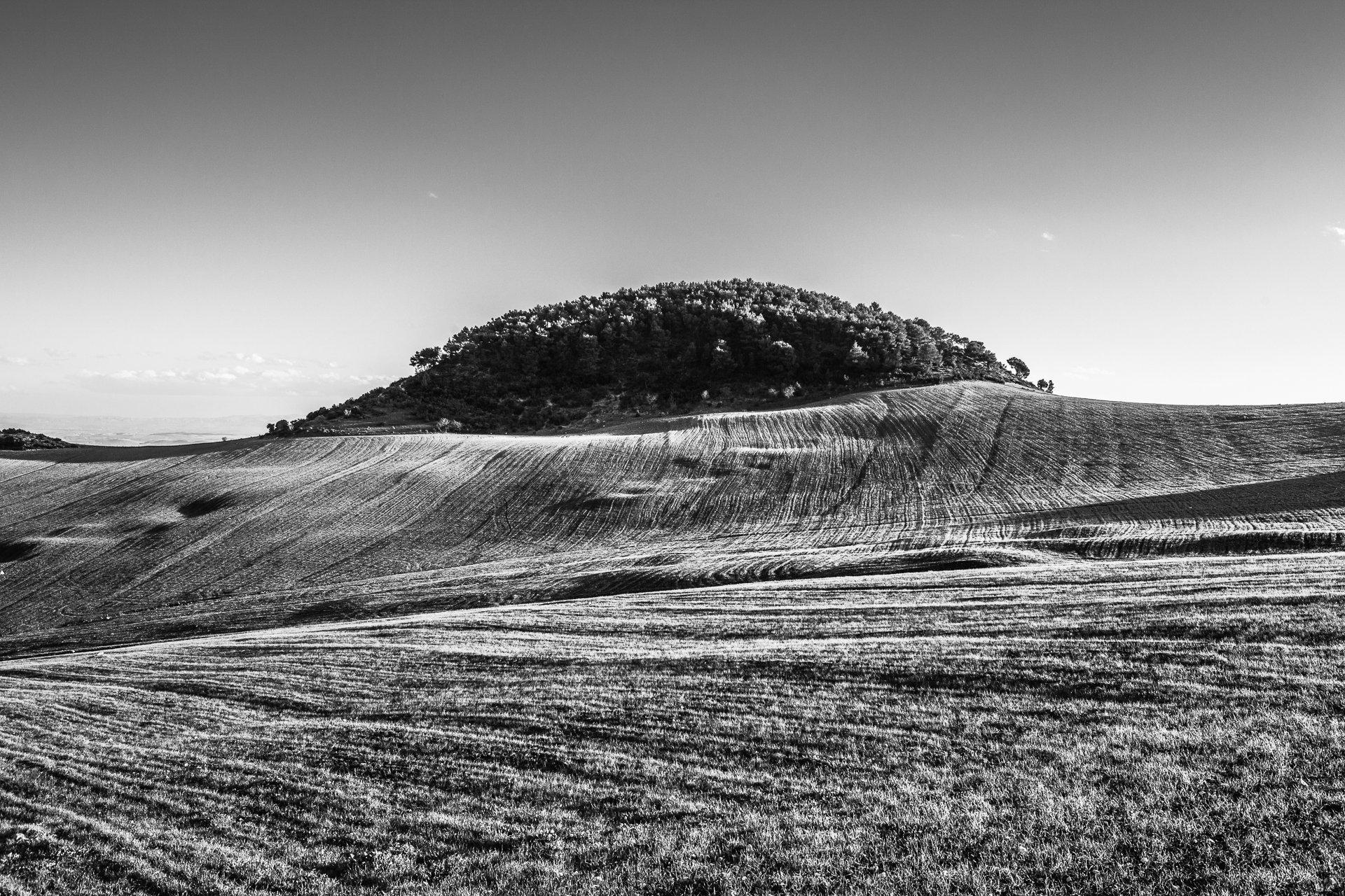 Colline. Route el Kef - Nebeur, 2014.
