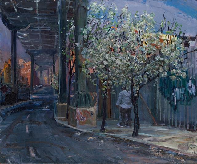 "Expressway Blossoms I, 30 x 36"""