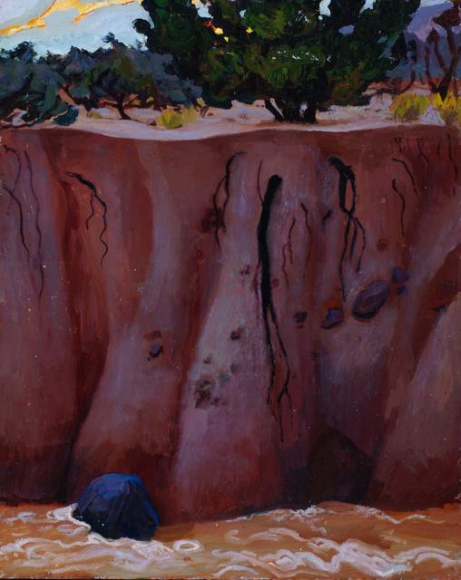 "Arroyo in Flood, New Mexico, 30 x 24"""