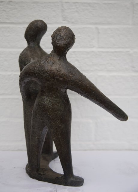 Coming Together Dancing Apart   2004,42X36X22cm  Bronze Resin  £1650