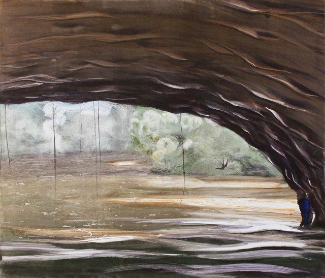 """Cave- Belize                   20 x 24"""""""