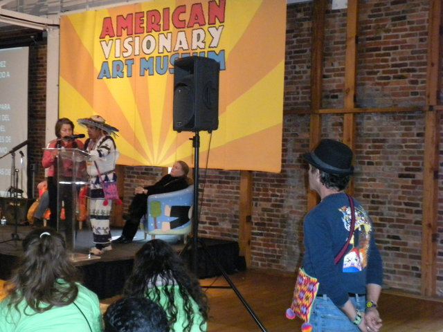 Loza with Shaman Macario at AVAM Event (2012)
