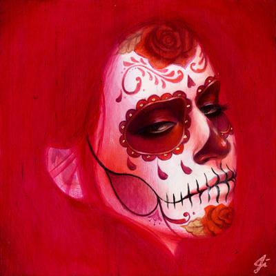 Calavera Rosa Mexicana