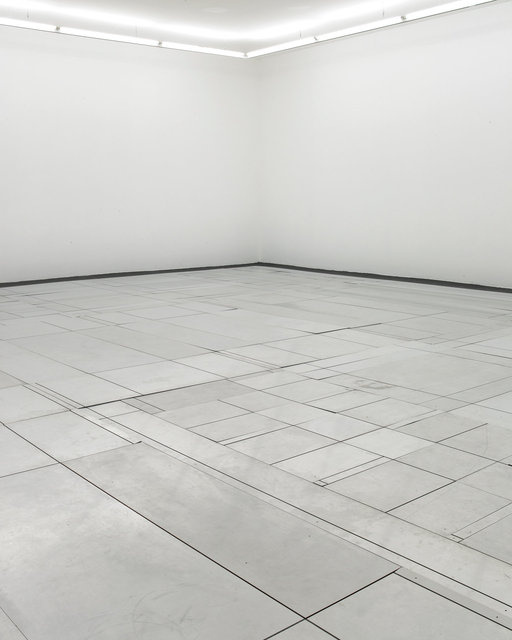 Functionnal floor, 2001    alucobond, moquette, velcro, dimensions variables